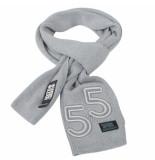 Crosshatch Swank trendy fijn gebreide heren sjaal grijs