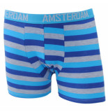 Fine Man Amsterdam boxershort gestreept blauw