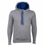 Madmext Heren hooded sweater met kangaroo zak grijs