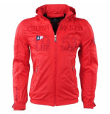 Geographical Norway Heren zomerjas capuchon yacht cacao rood