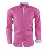 Pradz 2018 Heren overhemd gestreepte kraag slim fit paars