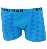 Grand Man Boxershort met bloemen motief blauw