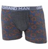 Grand Man Boxershort met cirkel motief grijs