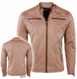 Red Bridge Heren biker jas imitatie leer camel bruin