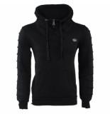 Cipo & Baxx Heren trui met hoge kraag sweat zwart