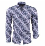 Pradz 2018 Heren overhemd full color grijs roze