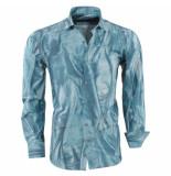 Pradz 2018 Heren overhemd allover print slim fit groen