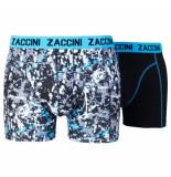 Zaccini 2pack boxershorts uni splash zwart