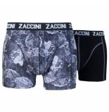 Zaccini 2pack boxershorts uni bloemen zwart
