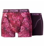 Zaccini 2pack boxershorts uni bloemen paars