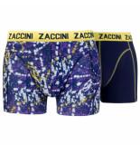 Zaccini 2pack boxershorts uni splash blauw