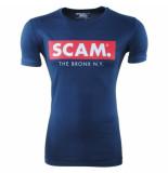 American Joggs Heren tshirt ronde hals scam slim fit blauw