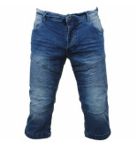 MZ72 Heren bermuda white wash ollstar denim blauw