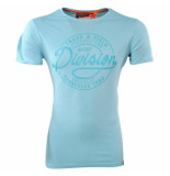 Earthbound Heren tshirt ronde hals division slim fit turquoise