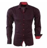 Bravo Jeans Heren overhemd gestippeld slim fit zwart