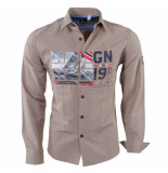 Geographical Norway Heren overhemd slim fit zalopark beige