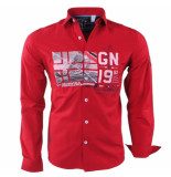 Geographical Norway Heren overhemd slim fit zalopark rood
