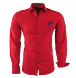 Geographical Norway Heren overhemd slim fit zampai rood