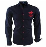 Geographical Norway Heren overhemd slim fit zampai blauw