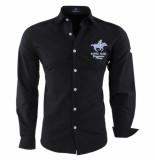 Geographical Norway Heren overhemd slim fit zampai zwart