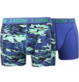 Zaccini 2pack boxershorts trendy design uni blauw