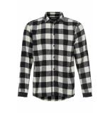 Anerkjendt Helix ruit shirt -wit zwart