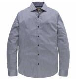 PME Legend Long sleeve shirt melange herringbone dobby grey m grijs