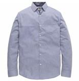 PME Legend Long sleeve shirt flame yarn dobby office blue blauw