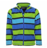 Color Kids /groen gestreepte fleece vest faton blauw