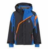 Spyder Met blauwe ski jas boy's challenger met 10.000mm waterkolom zwart