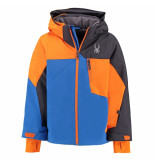 Spyder / oranje ski jas boy's ambush met 10.000mm waterkolom blauw
