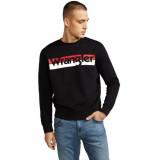 Wrangler Logo crew w6532hy01 zwart