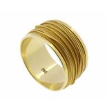 Christian Gouden gevlochten draad ring geel goud