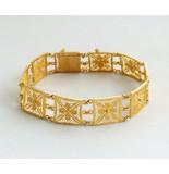 Christian 21 karaat gouden filigrain armband geel goud