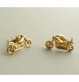 Christian Gouden motor oorbellen