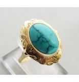 Christian Ring met turkoois geel goud