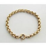 Christian 14 karaat gouden jasseron armband geel goud