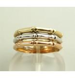 Christian Gouden tricolor ring rosé goud