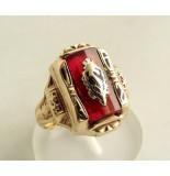 Christian Ring met carneool geel goud