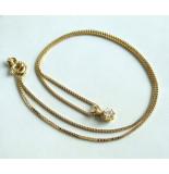 Christian Gouden collier en diamanten hanger geel goud
