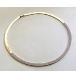 Christian 14 karaat geel- en wit gouden collier met zirkonia rosé goud