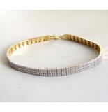 Christian 14 karaat geel- en wit gouden armband met zirkonia geel goud
