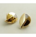 Christian 18 karaat gouden oorbellen met diamanten wit goud