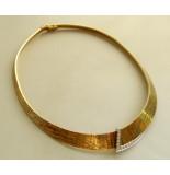Christian 18 karaat gouden collier met diamanten geel goud