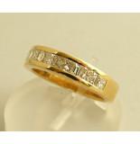 Christian 18 karaat ring met diamanten geel goud