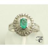 Atelier Christian Ring met diamant en smaragd wit goud