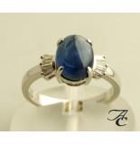 Atelier Christian Ring met saffieren en diamanten wit goud