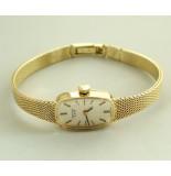 Christian Pontiac horloge geel goud