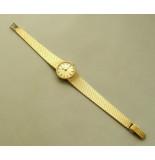 Christian Gouden bifora dames horloge geel goud