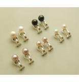 Atelier Christian Zilveren oorclips met parel wit goud
